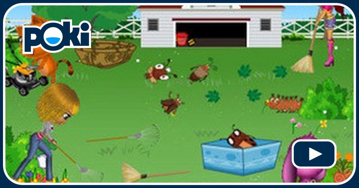 nettoyez la pelouse d 39 une grande maison joue sur jeuxjeuxjeux. Black Bedroom Furniture Sets. Home Design Ideas