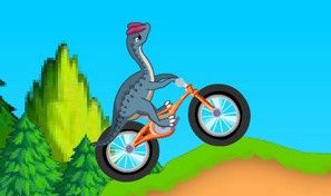 Dinosaur Bike Stunt