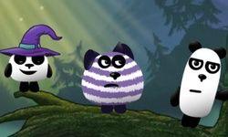 3 Pandas em Fantasia