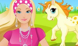 Caring Barbie Unicorn