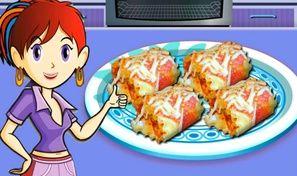 Original game title: Sara's Cooking Class: Lasagna Roll-ups