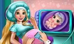 Rapunzel Pregnant Check-Up