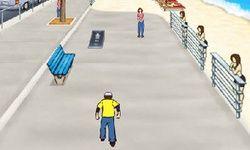 Skate na Praia Heelys