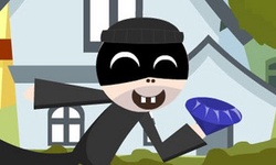 Cartoon Escape Jewelry Thief