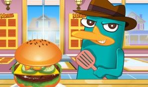 Perry Cooking American Hamburger