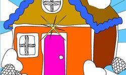 Mewarnai: Rumah Permen