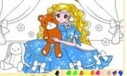 Teddybear Girl Coloring