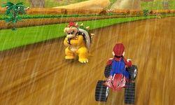 Carrera de Mario Kart en la Lluvia