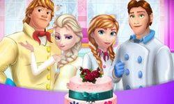 Cocinar El Pastel de Bodas de la Familia Frozen