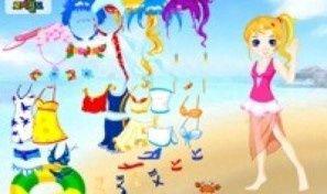 Original game title: Doll Beach Dress Up