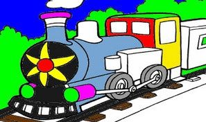 Original game title: Train Coloring Book