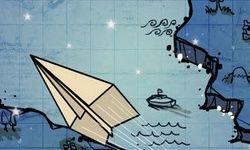 Papirfly Flyvning