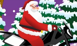 Santa Claus Extreme Biker