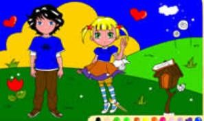 Love Couple Coloring