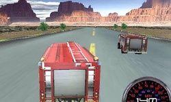 Гонщик на пожарном грузовике 3D