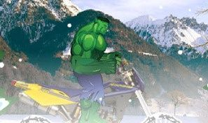 Original game title: Hulk Ride Snow