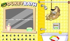Original game title: Dukey Bath Hangman
