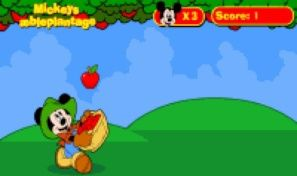 Original game title: Mickeys Apple Plantage