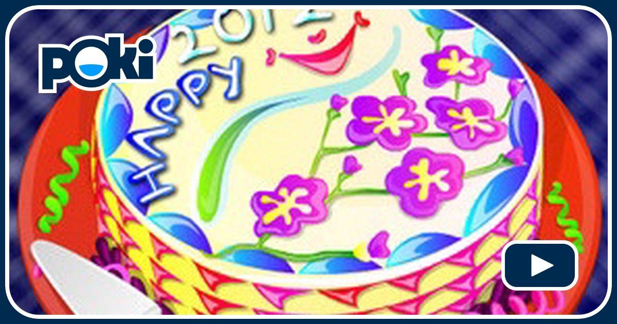 Cr ez votre propre g teau de nouvel an joue sur for Decoration gateau nouvel an