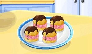 Original game title: Sara's Cooking Class: Ice Cream Puffs