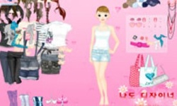Pink Girl Dress Up