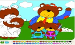 Bear Family Coloring