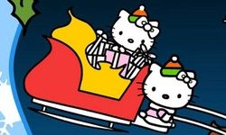 Mewarnai Natal Hello Kitty