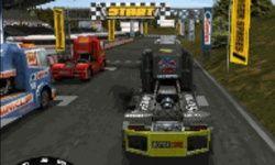 Race met een Vrachtwagen
