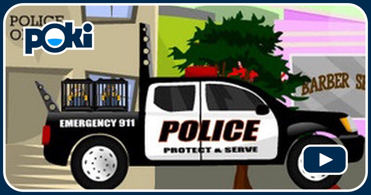 conducteur de camion de police. Black Bedroom Furniture Sets. Home Design Ideas