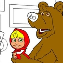 Masha and the Bear in the Museum