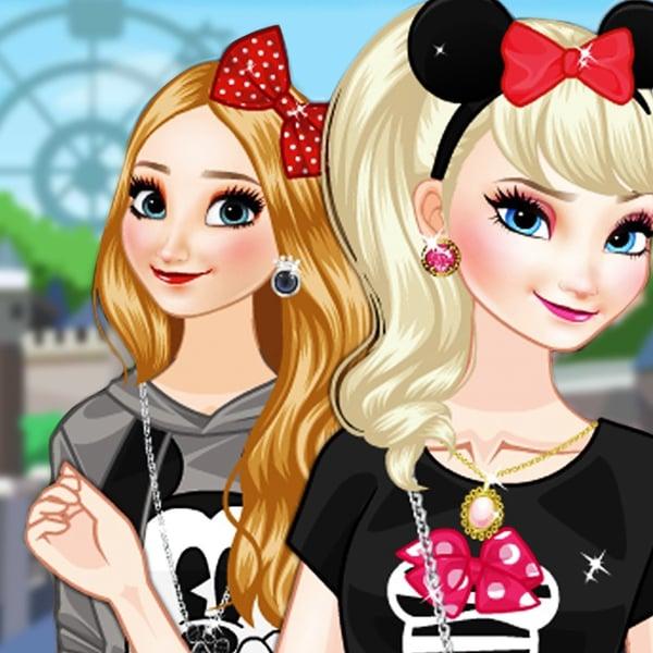 Las Hermanas De Frozen En Disneylandia Paisdelosjuegos