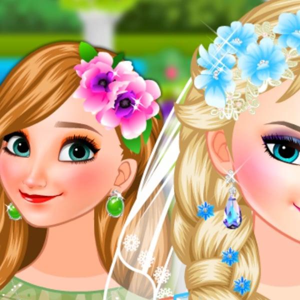 Novia Elsa Y Dama De Honor Anna Juega En Paisdelosjuegos