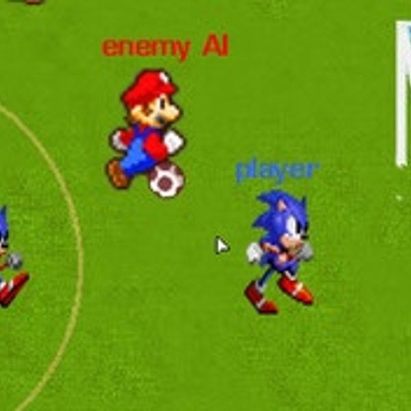 Mario Contre Sonic Football Joue Sur Jeuxjeuxjeux
