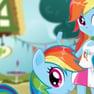 Carrera de Arcoiris Pony contra Humano