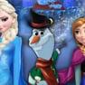 Anna and Elsa Building Olaf
