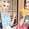 Elsa and Anna Go Shopping