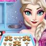 Elsa Cooking Gingerbread